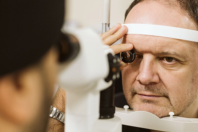 Man having Eye Examination
